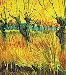 Willow at Sundown 1888 - Vincent van Gogh