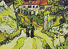 Village Street and Steps in Auvers 1890 - Vincent van Gogh