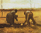 Peasant Man and Woman Planing Potatoes Nuenen 1885 - Vincent van Gogh