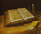 Still Life with Open Bible 1885 - Vincent van Gogh