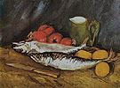 Still Life with Mackerels Lemons and Tomatoes 1886 - Vincent van Gogh