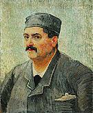 Portrait of a Restaurant Owner Possibly Lucien Martin 1887 - Vincent van Gogh