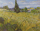 Green Wheat Filed with Cypress Saint Remy June 1889 - Vincent van Gogh