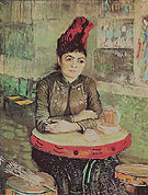Woman at a Table in the Cafe du Tambourin 1887 - Vincent van Gogh