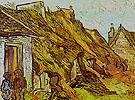 Cottages at Chaponval Auvers sur Oise July 1890 - Vincent van Gogh