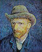 Self Portrait with Grey Felt Hat 1887 - Vincent van Gogh