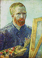Self Portrait in front of an Easel 1888 - Vincent van Gogh