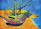 Boats at Les Saintes Maries 1888 - Vincent van Gogh