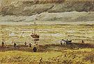 Scheveningen Beach in Stormy Weather August 1882 - Vincent van Gogh