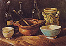 Still Life with Earthenware and Bottles 1885 - Vincent van Gogh
