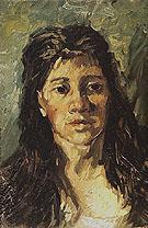 Head of a Woman 1885 - Vincent van Gogh