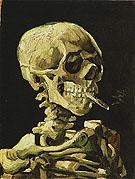 Skull of a Skeleton with Burning Cigarette winter 1885 - Vincent van Gogh