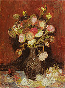 Vase with Autumn Asters Summer Autumn 1886 - Vincent van Gogh