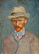 Self Portrait with Felf Hat 1887 - Vincent van Gogh