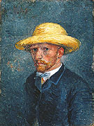 Self Portrait with Straw Hat 1887 - Vincent van Gogh
