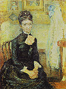 Mother by a Cradle Portrait of Leonie Rose Davy Charbuy 1887 - Vincent van Gogh
