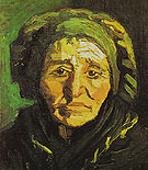 Head of a Peasant Woman in a Greenish Bonnet 1885 - Vincent van Gogh