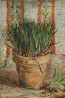 Flowerpot with Chives 1887 - Vincent van Gogh