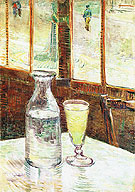 Glass of Absinthe and a Carafe 1887 - Vincent van Gogh