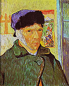 Self Portrait with Bandaged Ear Arles 1889 - Vincent van Gogh