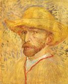 Self Portrait with Straw Hat Paris Summer 1887 - Vincent van Gogh