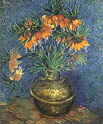 Flowers in a Copper Vase 1887 - Vincent van Gogh