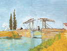 Drawbridge with Lady with Parasol Arles 1888 - Vincent van Gogh
