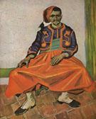 Portrait of Lieutenant Milliet 1888 - Vincent van Gogh