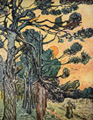 Fir Woods at Sunset 1889 - Vincent van Gogh