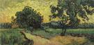 Landscape at Twilight 1890 - Vincent van Gogh