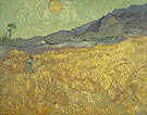 Enclosed Field with Reaper at Sunset 1889 - Vincent van Gogh
