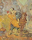 The Good Samaritan after Delacroix 1890 - Vincent van Gogh