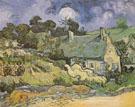 Cottages with Thatched Roofs Auvers sur Oise 1890 - Vincent van Gogh
