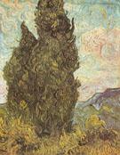Two Cypresses Saint Remy June 1889 - Vincent van Gogh