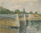The Saine with the Pont de la Grande Jatte Summer 1887 - Vincent van Gogh