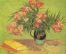 Majolica Jar with Branches of Oleander Arles 1888 - Vincent van Gogh