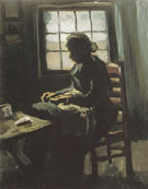 Woman Sewing 1885 - Vincent van Gogh