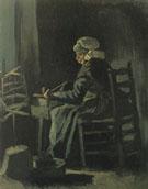 Woman Winding Yard 1885 - Vincent van Gogh