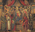 The Virgin and Child Attended by Four Angels and by Six Saints c1487 - Botticelli