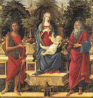 The Virgin and Child Enthroned between St John the Baptist and St John the Evangelist The Bardi Altarpiece 1484 - Botticelli