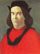 Portrait of Lorenzo di Ser Piero Lorenzi c1495 - Botticelli