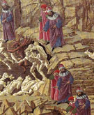 Inferno Canto XVIII detail c1480 - Botticelli