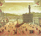 The Execution of Savonarola on the Piazza della Signoria 1498 - Botticelli