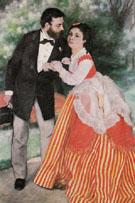 Alfred Sisley and His Wife 1868 - Pierre Auguste Renoir