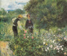 Conversation with the Gardener 1875 - Pierre Auguste Renoir