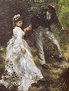 The Promenade 1870 - Pierre Auguste Renoir