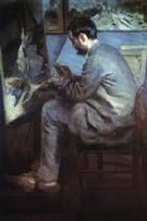 The Painter Bazille in His Studio 1867 - Pierre Auguste Renoir