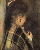 Young Woman with a Veil 1876 - Pierre Auguste Renoir