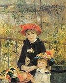 The Terrace 1881 - Pierre Auguste Renoir