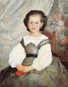 Little Miss Romaine Lacaux 1864 - Pierre Auguste Renoir